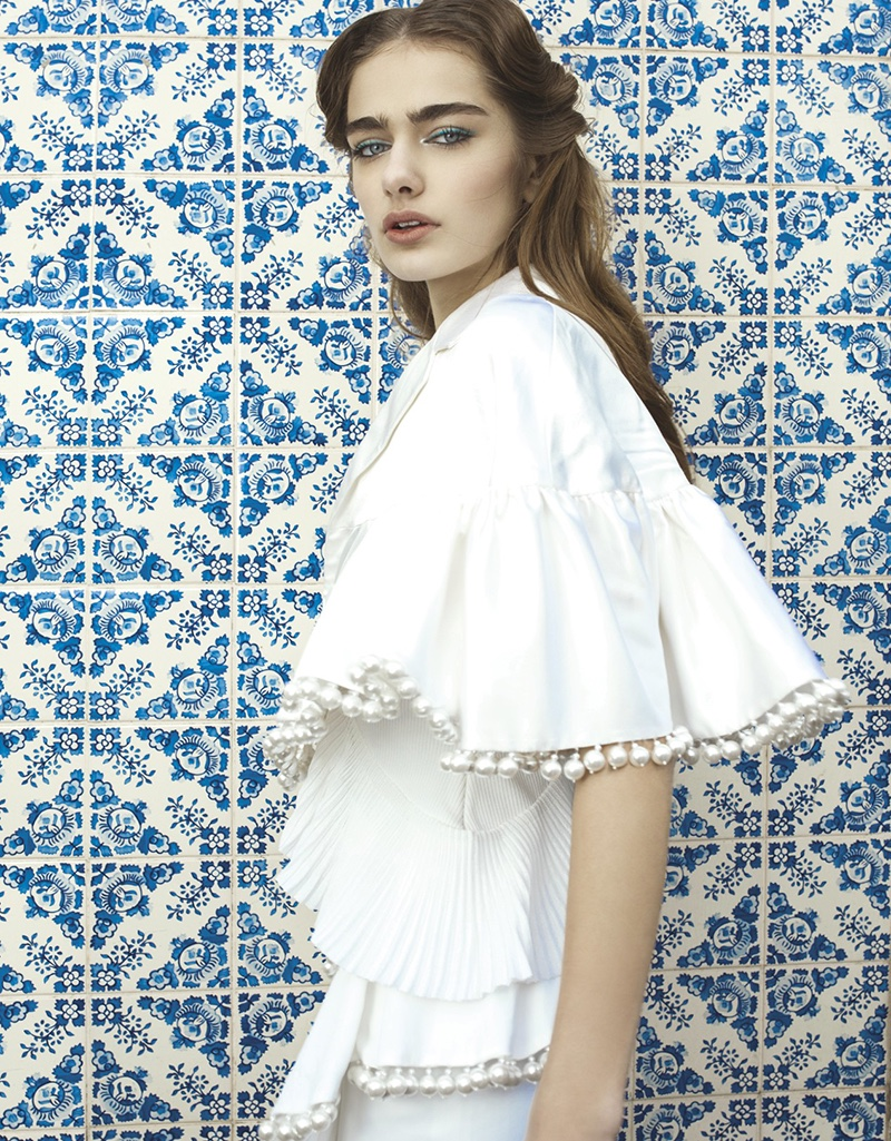 Liza Martynchik Models Romantic Styles for Vogue Taiwan