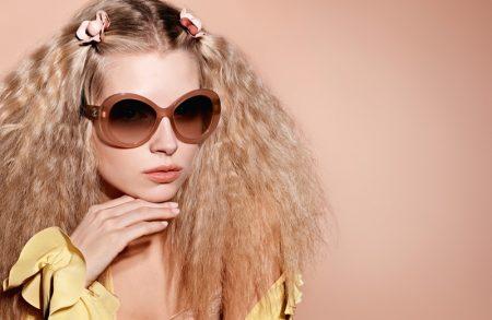 Lottie Moss Rocks Crimped Hair in Chanel Eyewear's Spring 2017 Campaign