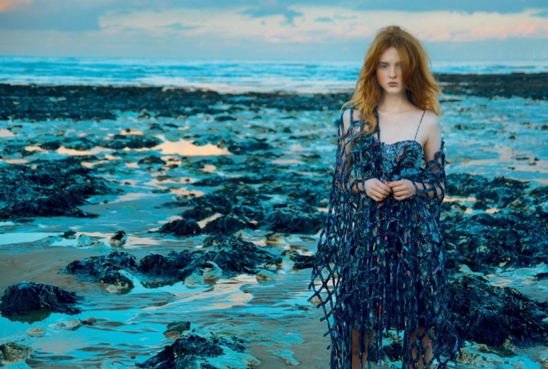 Madison Stubbington Poses in Dreamy Dresses By the Sea for BAZAAR UK