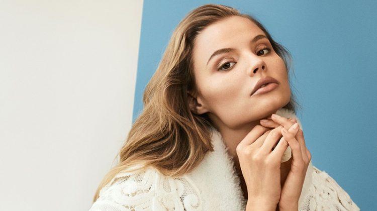Magdalena Frackowiak Wears Burberry's New Season Looks in BAZAAR Korea