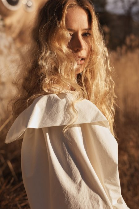 Raquel Zimmermann wears Mango's sustainable collection, Mango Committed