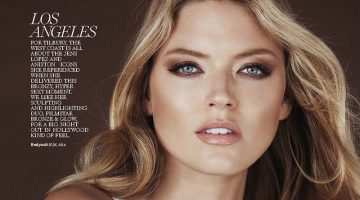 Martha Hunt Models Spring Beauty Looks for Marie Claire