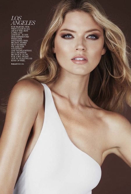 Model Martha Hunt wears Alix one-shoulder bodysuit
