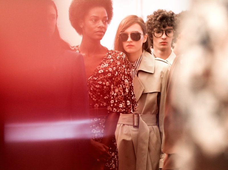 Backstage image from Michael Kors' spring 2017 runway show