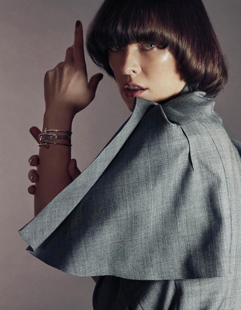 Milla Jovovich gets her closeup in Louis Vuitton jacket