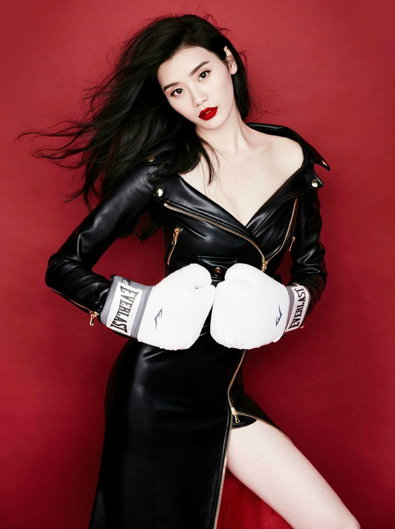 Ming Xi Looks Super Glam in Harper's Bazaar China