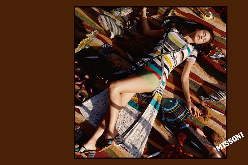 Harley Weir photographs Irina Shayk in Missoni's spring 2017 campaign