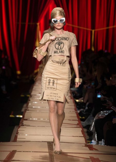 Moschino Focuses on Recycled Fashion for Fall 2017