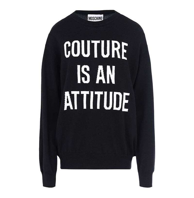 Moschino Long Sleeve Sweater Couture