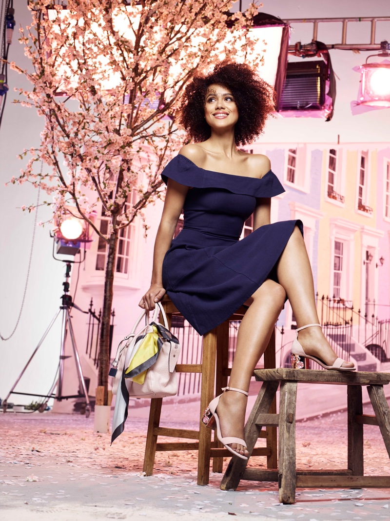 Game of Thrones' Nathalie Emmanuel Stars in Dune London's Spring 2017 Campaign