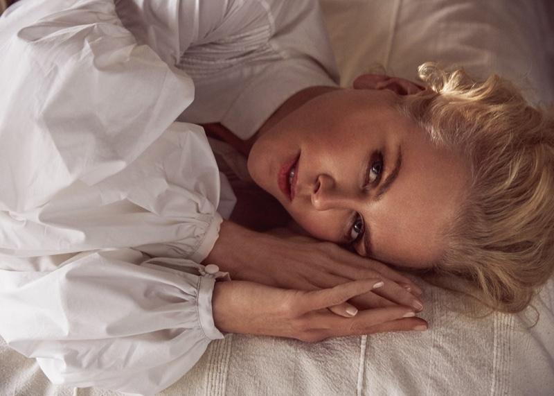 Actress Nicole Kidman gets her closeup in Johanna Ortiz dress