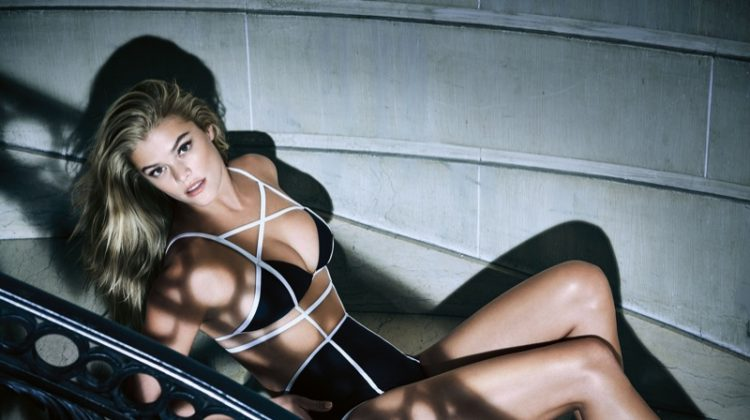 Nina Agdal models Chromat bikini and briefs