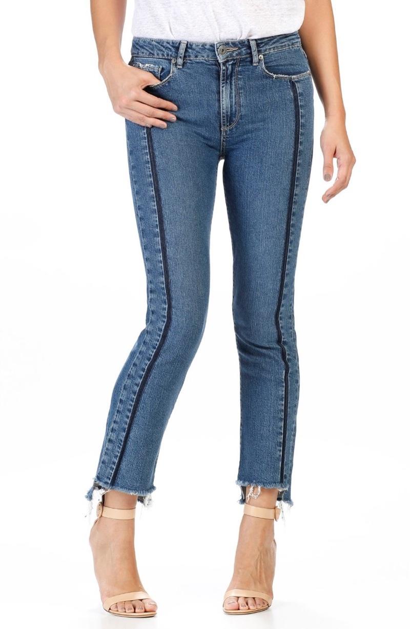 PAIGE Vintage Julia High Rise Straight Leg Jeans (Felice)