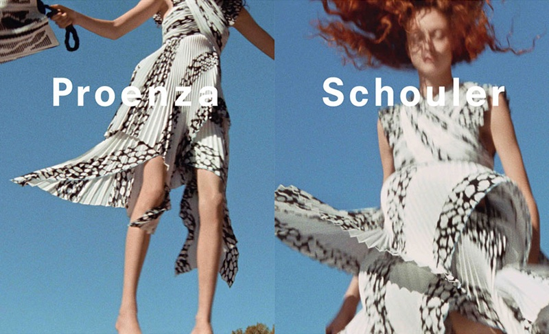 Natalie Westling stars in Proenza Schouler's spring 2017 campaign