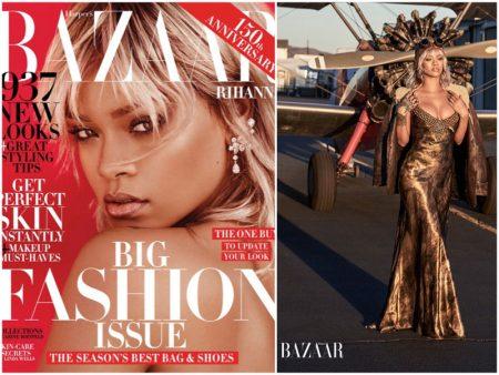 Rihanna Takes Flight in Harper's Bazaar Cover Shoot