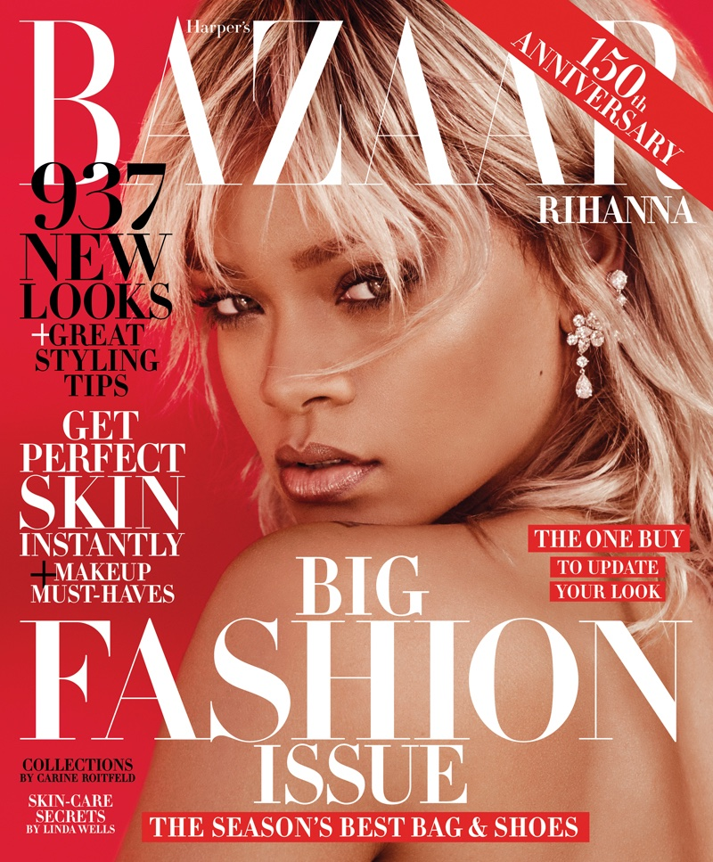 Rihanna on Harper's Bazaar March 2017 Cover