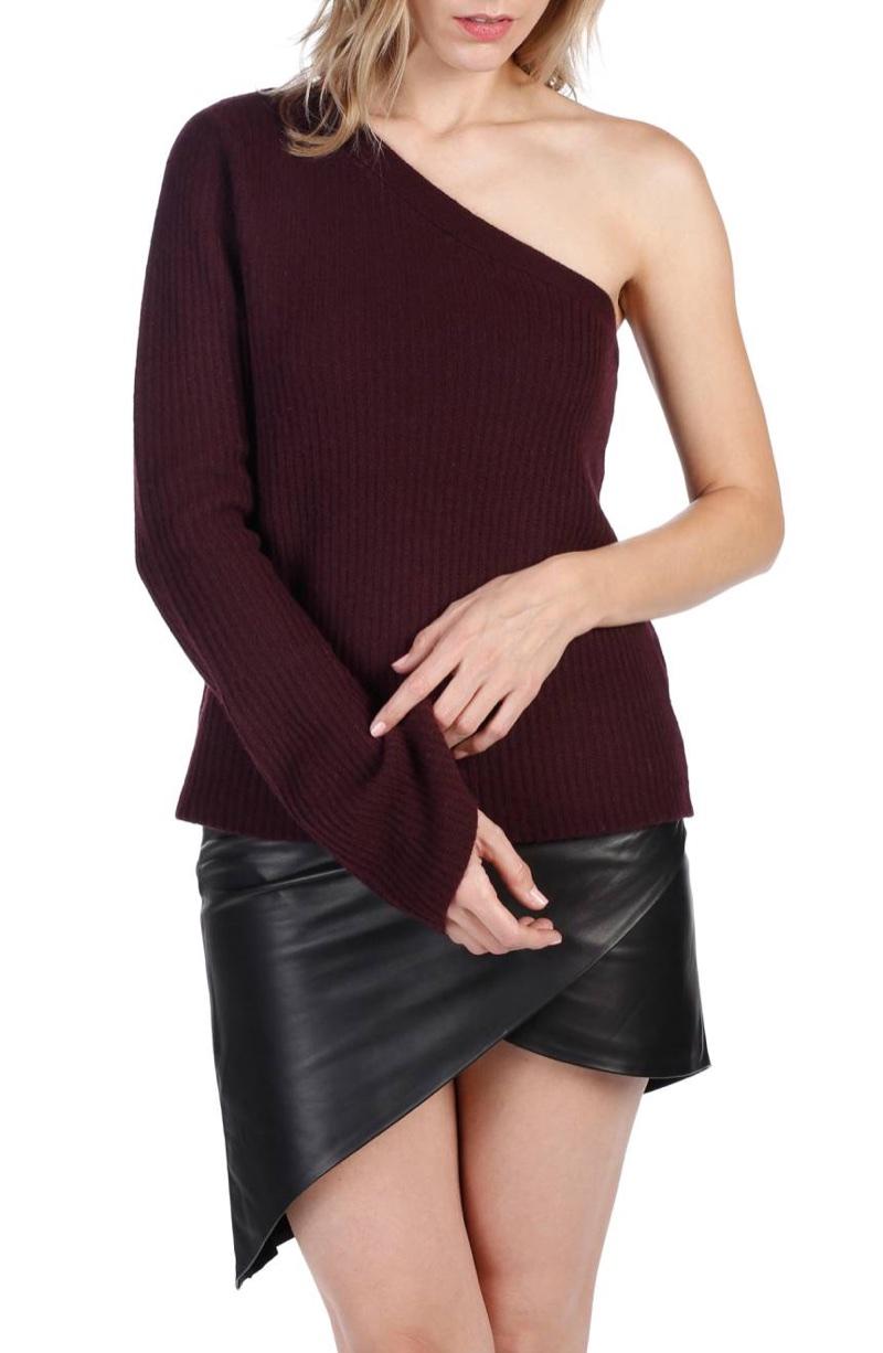 Rosie HW x Paige Hadlee One-Shoulder Sweater $268