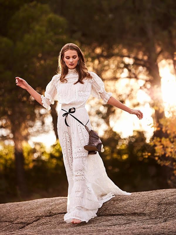 Photographed by Tomás de la Fuente, the model wears wedding dress styles