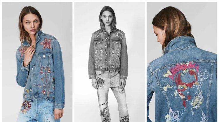 Sasha Pivorarova x FRAME denim collaboration