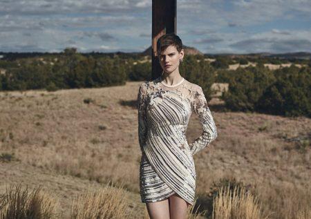 Saskia de Brauw Models Spring's Statement Styles for Neiman Marcus
