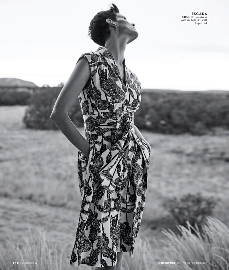 Escada Raffia-Print Sleeveless A-Line Dress