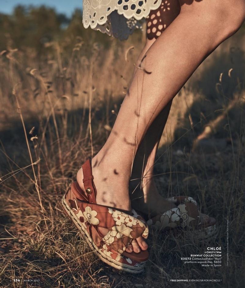 Chloe Floral Canvas Platform Espadrille Sandal