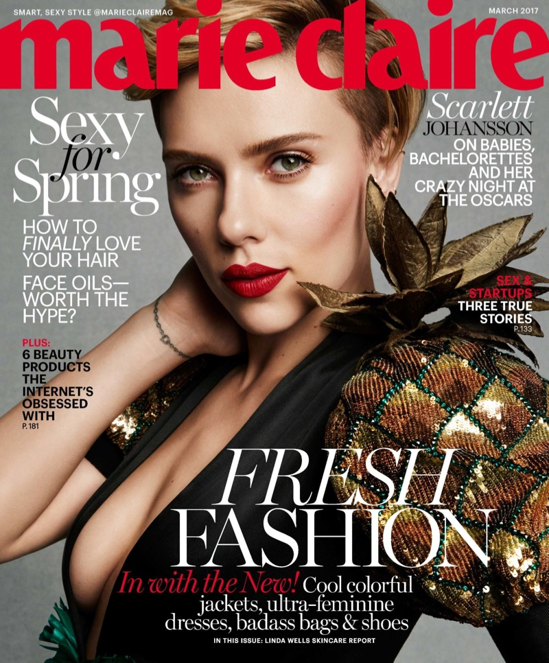 Scarlett Johansson Marie Claire March 2017 Photoshoot
