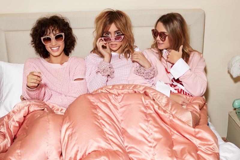Alanna Arrington, Suki Waterhouse and Immy Waterhouse stars in Shopbop's spring 2017 campaign