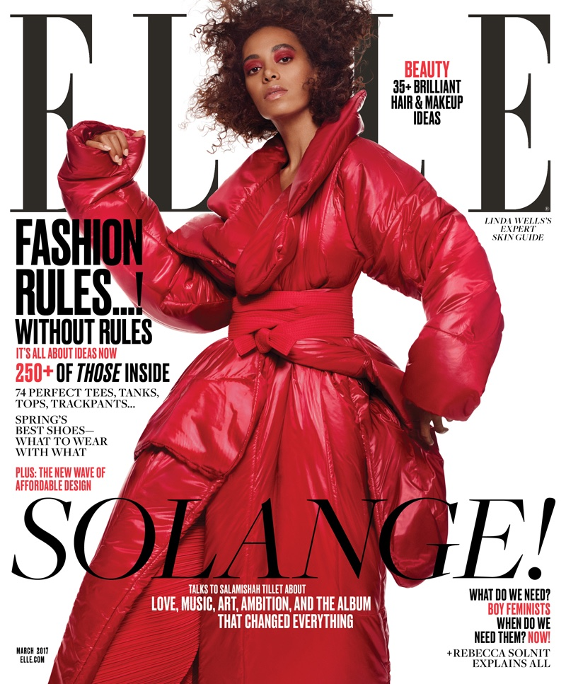 Solange Knowles on ELLE Magazine March 2017 Cover