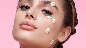 Taylor Hill Models Whimsical Spring Makeup Looks for Teen Vogue