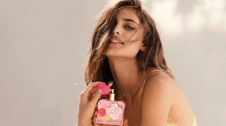 Taylor Hill Charms in Victoria's Secret Tease Flower Fragrance Campaign
