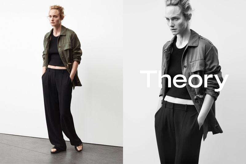 Amber Valletta stars in Theory's spring-summer 2017 campaign