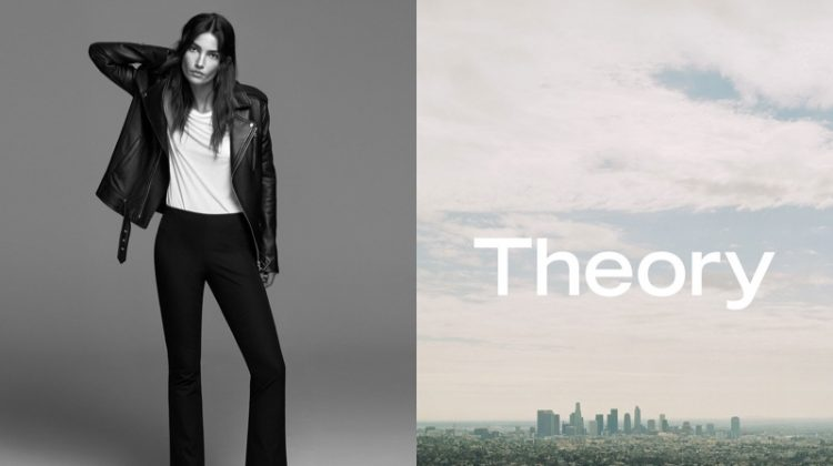 Lily Aldridge stars in Theory's spring-summer 2017 campaign
