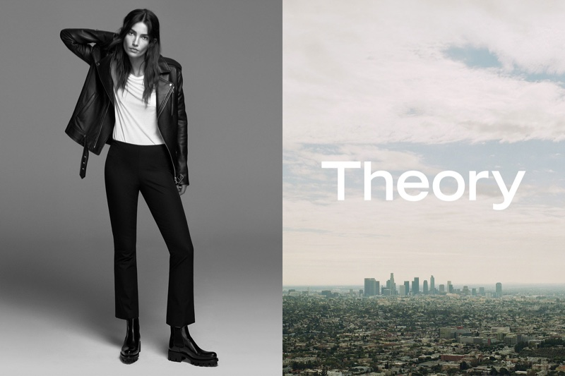 Lily Aldridge, Liya Kebede Wear the Essentials in Theory's Spring 2017 Campaign