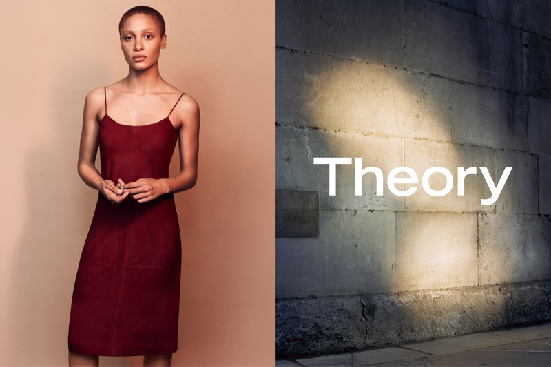 Adwoa Aboah stars in Theory's spring-summer 2017 campaign