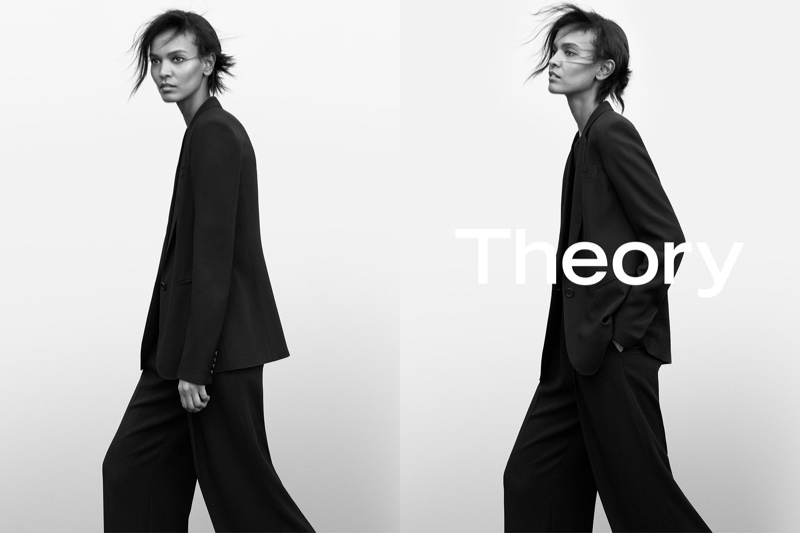 Liya Kebede stars in Theory's spring-summer 2017 campaign