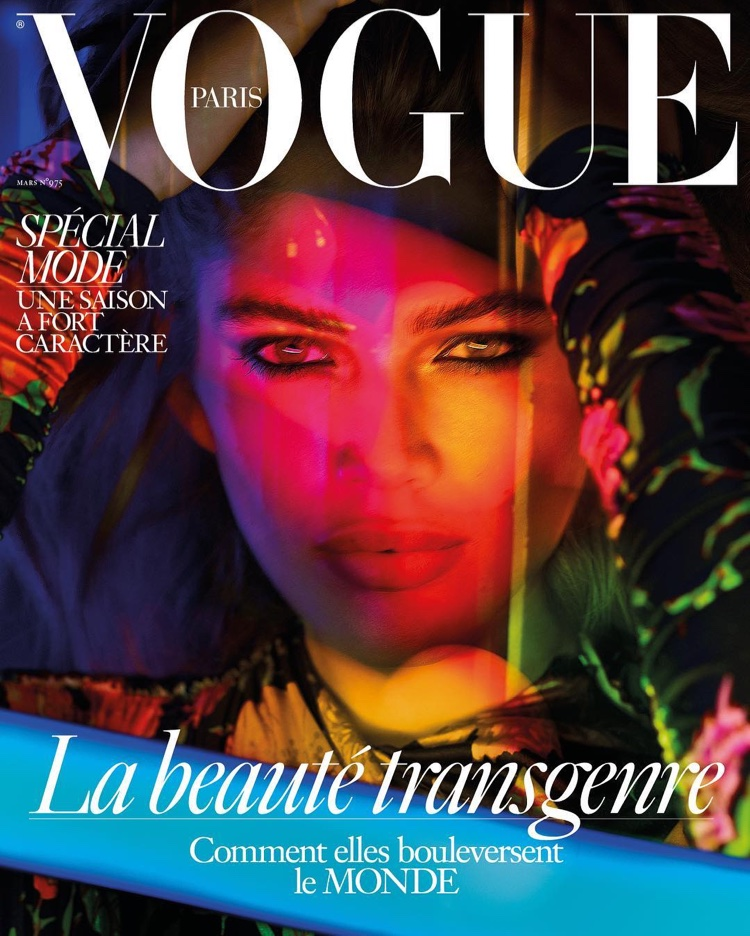 Transgender model Valentina Sampaio on Vogue Paris March 2017 Cover