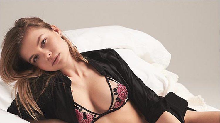 Victoria Victoria Beckham Stripe Blouse, Fleur du Mal Snake Charmer Triangle Bra and Snake Charmer Thong