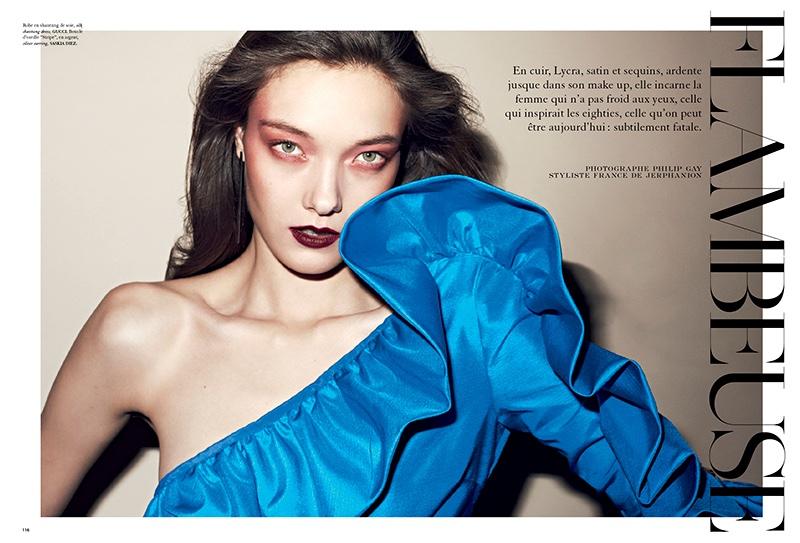 Yumi Lambert stars in Air France Madame's February issue