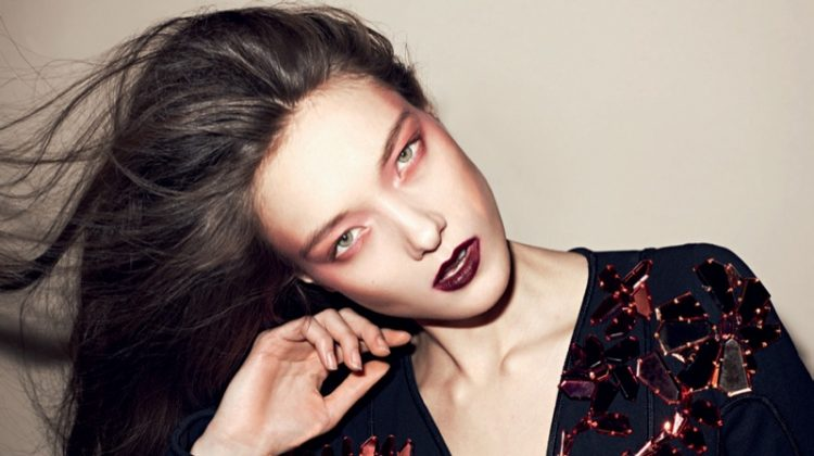 Yumi Lambert Turns Up the Glam Factor in Air France Madame