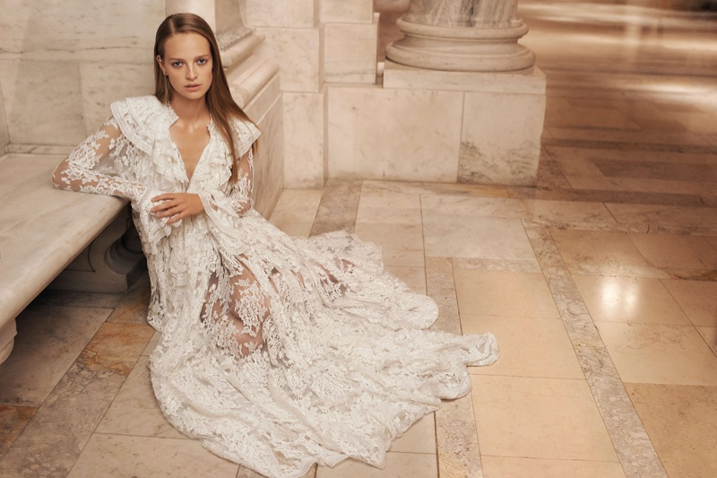 Zimmermann features Bowerbird Ruffle Dress in spring 2017 campaign