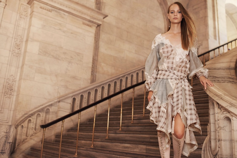 Zimermann features Cavalier Plaid Dress in spring 2017 campaign