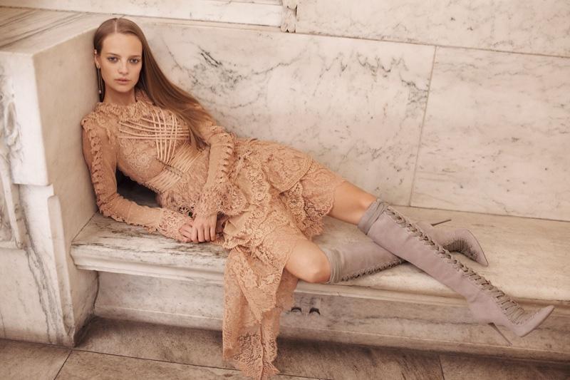 Zimmermann spotlights Bowerbird Romance Mini Dress in spring 2017 campaign