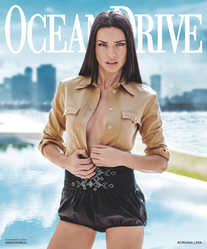 Adriana Lima on Ocean Drive March 2017 Cover