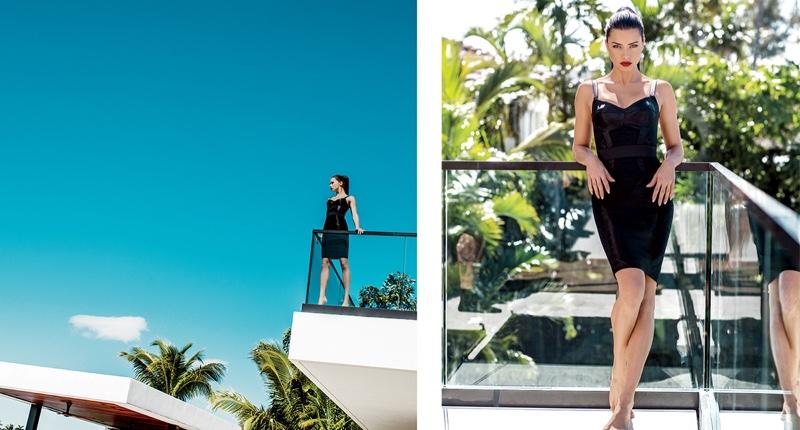 Supermodel Adriana Lima wears form-fitting Dolce & Gabbana dress