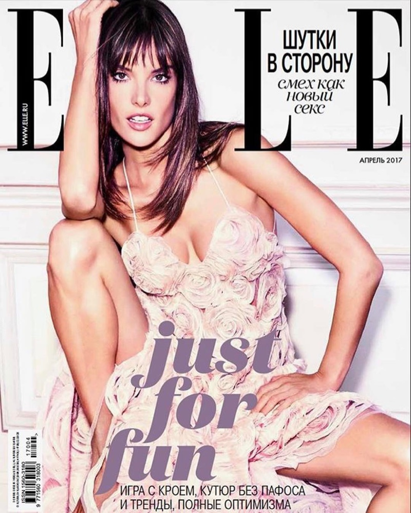 Alessandra Ambrosio on ELLE Russia April 2017 Cover