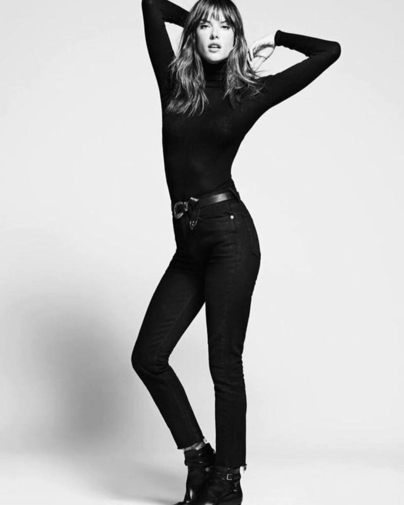 Alessandra Ambrosio poses for Re/Done 2017 campaign