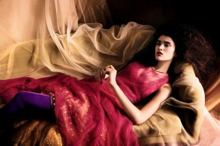 Alexandra Micu stars in Vogue China's April issue