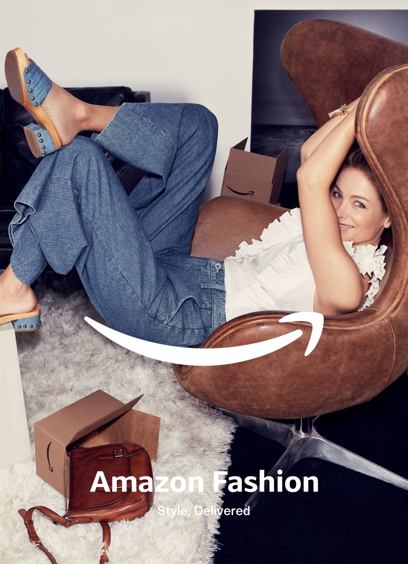 Carolyn Murphy, Andreea Diaconu Unbox Style for Amazon Fashion's Spring Campaign