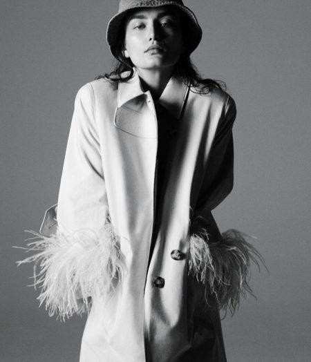 Andreea Diaconu Takes on Spring Outerwear for WSJ. Magazine